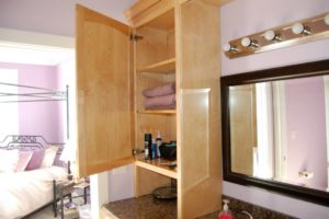Maple Stained Cherry Cabinets
